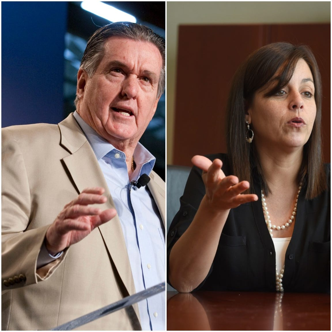 Joe Ashton, left, and Cindy Estrada