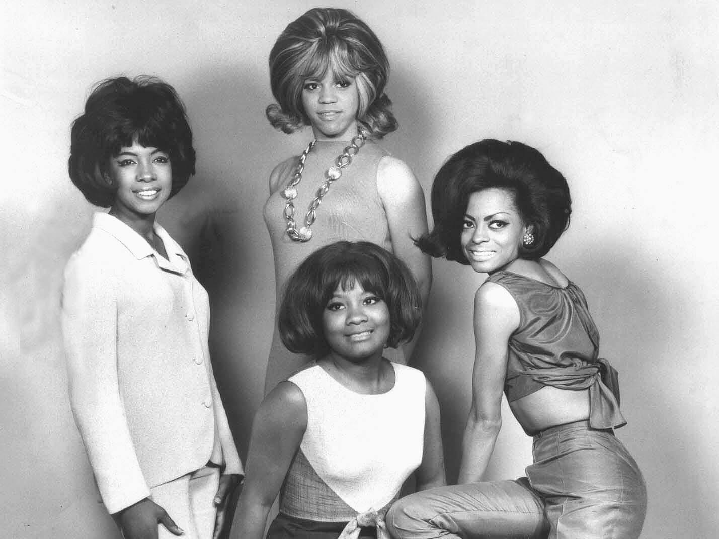 Barbara Martin, seated, replaced Betty McGlown in 1960, a year before the group was signed by Motown and renamed the Supremes. When she left the act in 1962, the group continued as a trio.