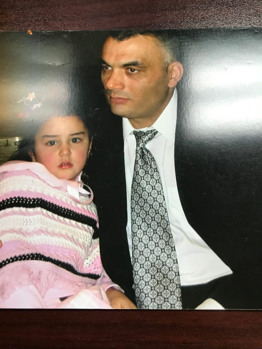 Ibrahim Souedan, right, with one of his five children, faces deportation back to Lebanon and possible retaliation for testifying against an official with Hezbollah.