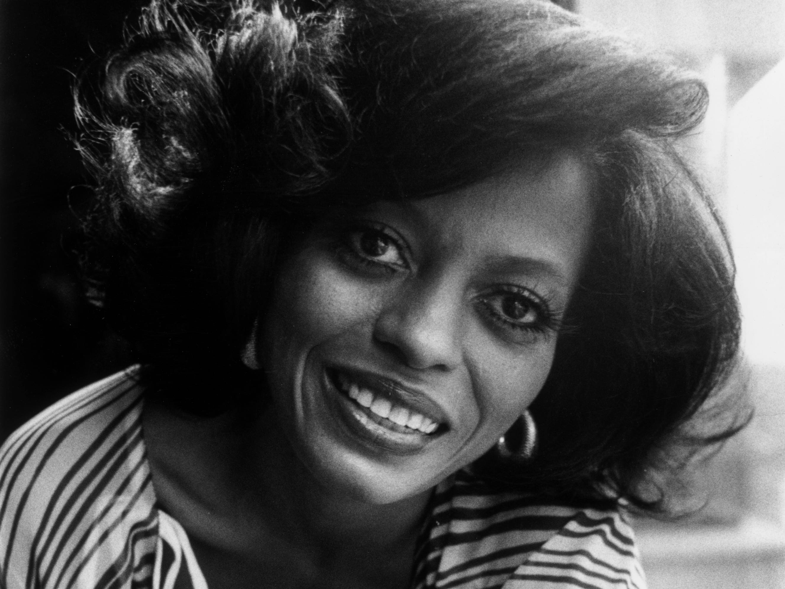 "A March 12, 1976 photo of Diana Ross, during another solo tour in England. This year, she recorded her fourth No. 1 hit as a solo artist with the disco number ""Love Hangover."""