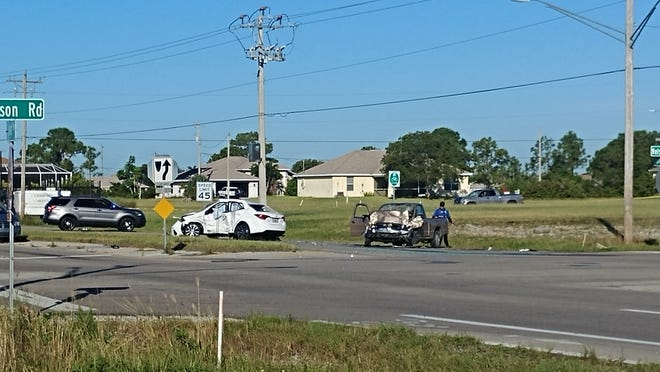 A serious injury crash involving two vehicles occurred at the intersection of Nelson Road and Diplomat Parkway West in Cape Coral on Thursday.