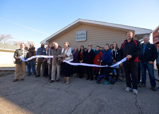 The Grace Home Veterans Center held a ribbon cutting for the new garage built behind the center, Thursday morning.