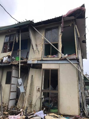 This is what's left of Saipan resident Tess Matson's two-story house after Super Typhoon Yutu ravaged Saipan and Tinian.
