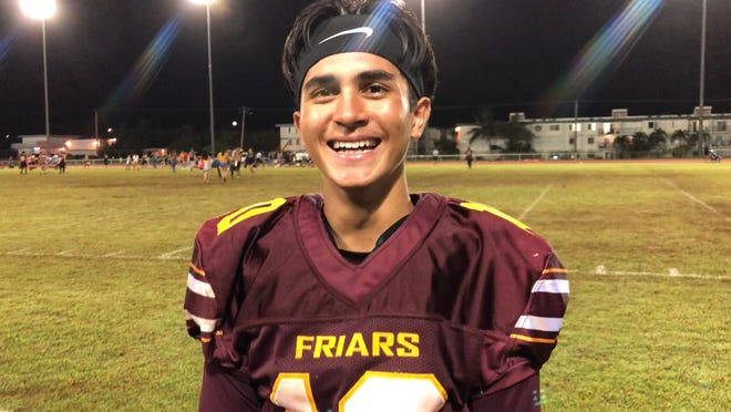 Nicholas Anderson, quarterback for the Father Duenas Friars, is the PDN's Player of the Week.