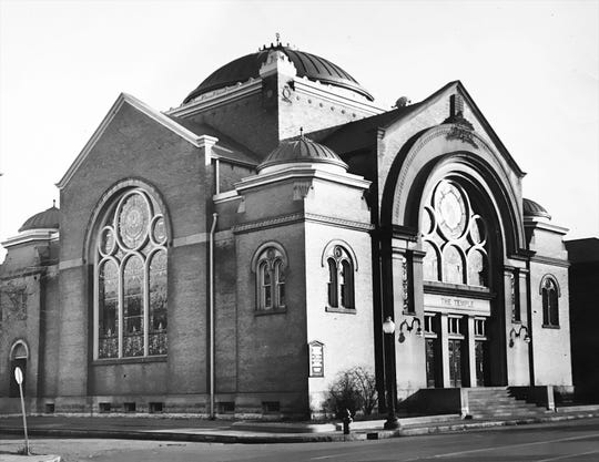 In 1958 Jones moved his Peoples Temple into this former synagogue at 975 N. Delaware St.