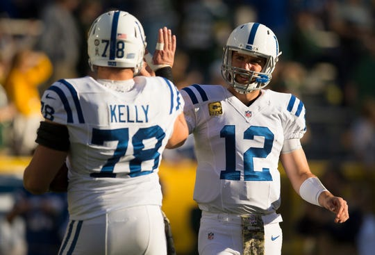 With Andrew Luck sidelined for the entire season last year and Ryan Kelly limited to just seven games due to a broken foot and a concussion, Indianapolis did not have its masterminds. They're healthy now, and together again.   Jeff Hanisch-USA TODAY Sports