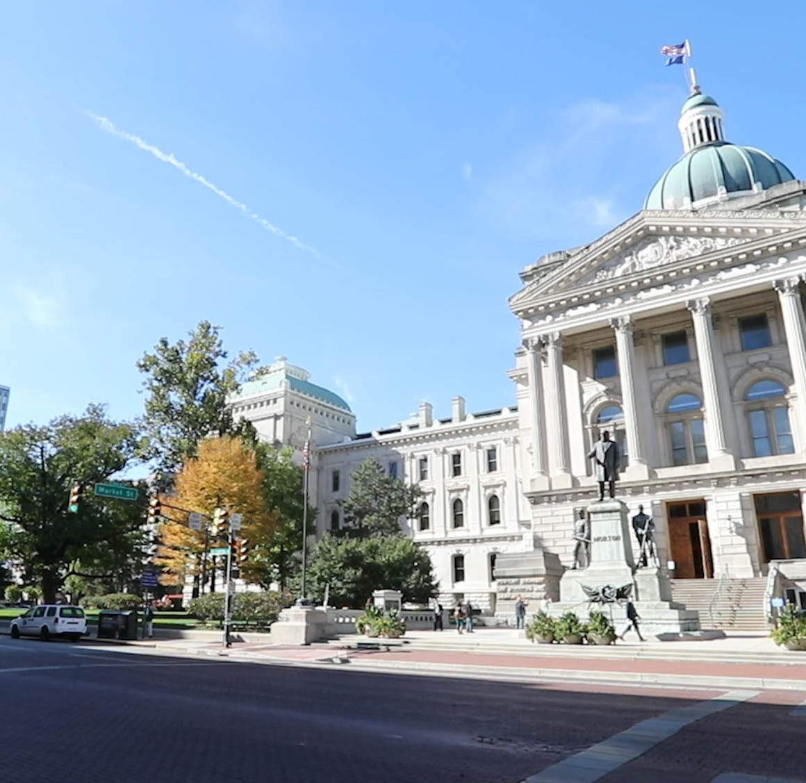 The Indiana Statehouse in Indianapolis Ind. on Wednesday, Oct. 24, 2018.