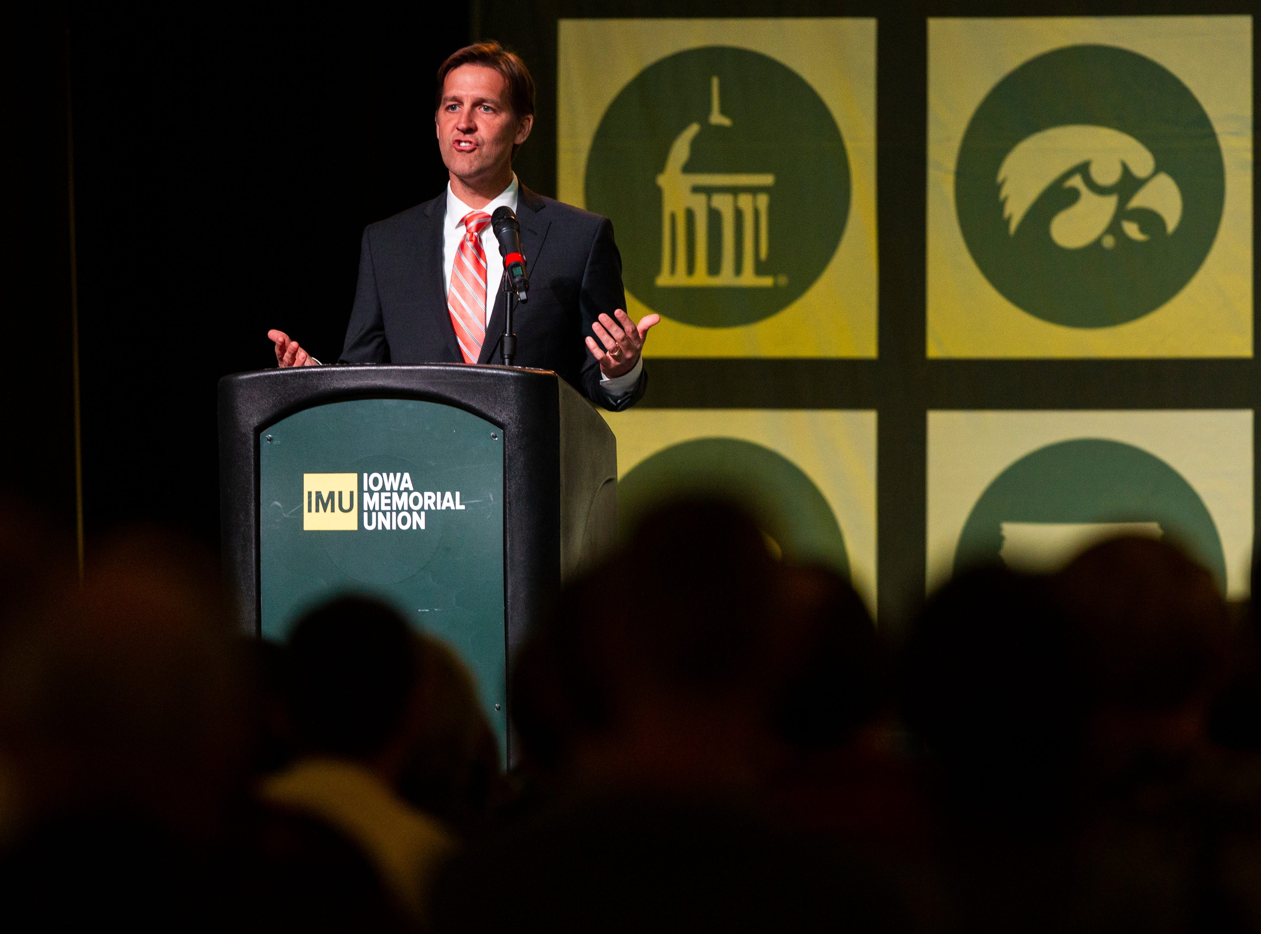 U.S. Sen. Ben Sasse, R-Nebraska, speaks on Thursday, Oct. 25, 2018, at the Iowa Memorial Union on the University of Iowa campus in Iowa City.