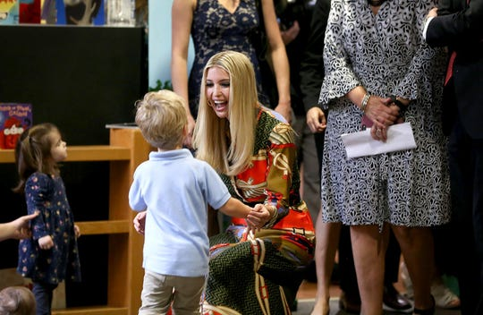 Ivanka Trump visits with children at Lynn Meadows Discovery Center in Gulfport on Thursday, October 25, 2018. She was in Mississippi to talk about affordable child care options for women in the work force.