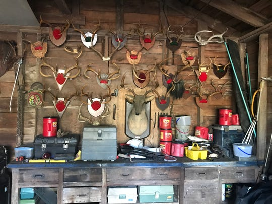 Danny McCombs was an avid outdoorsman and kept his garage in careful order, his wife Donna McCombs said. He mounted each of these antlers from his hunting expeditions himself, and had stories behind each of them.