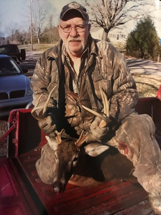 Danny McCombs was passionate about hunting, according to his family. This photograph shows Danny with the last deer he killed. He had had a stent put in his heart just two days before this photograph was taken, his daughter Dakila said.