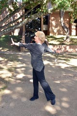 Kathy McCarrell Smith proves that she's still got it as she performs an impromptu routine on Wednesday, Oct. 24.