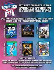 The Smokies eSports Challenge will take place at Smokies Stadium on Nov. 10.