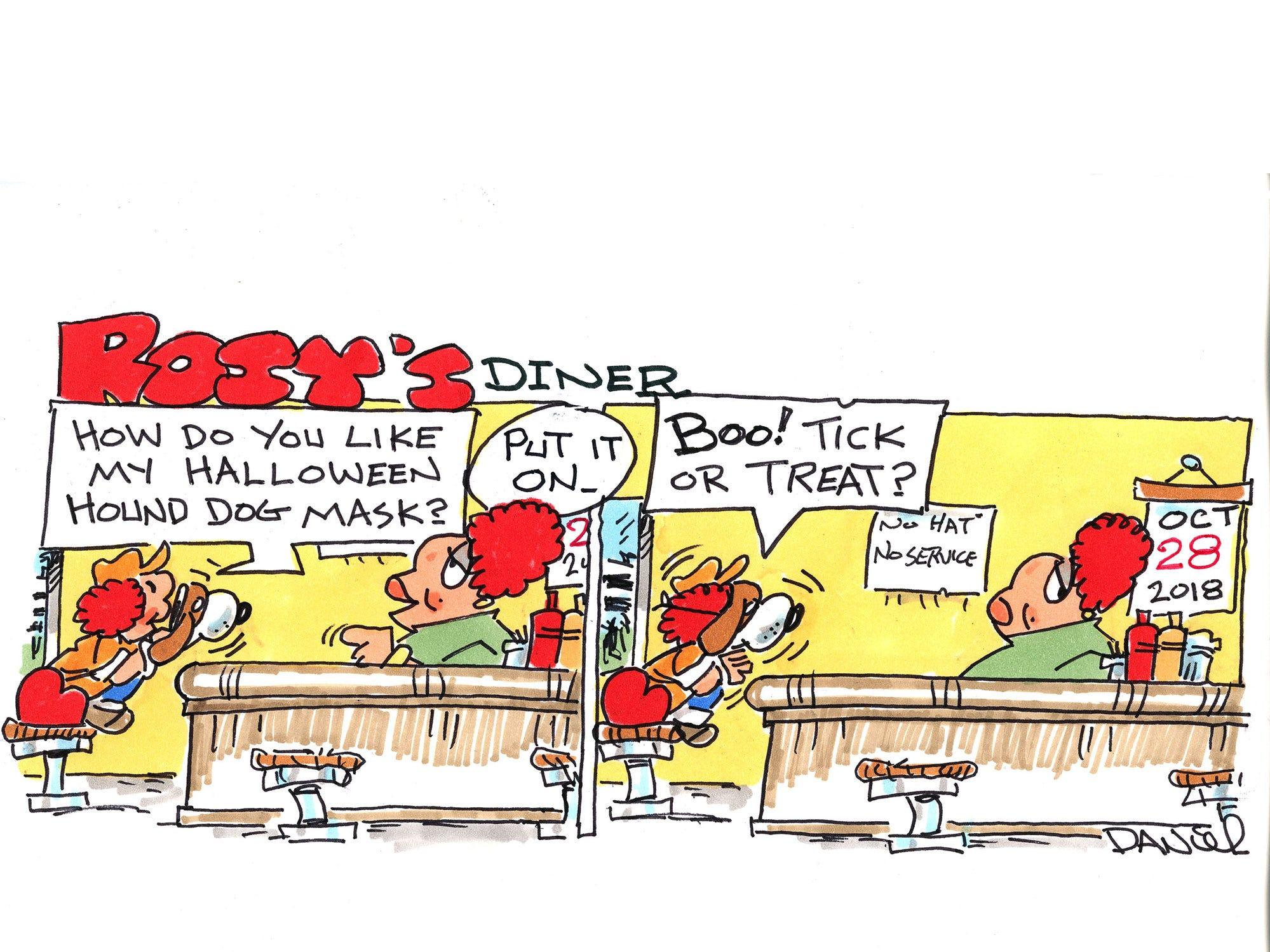 Charlie Daniel editorial cartoon for Sunday, Oct. 28, 2018.
