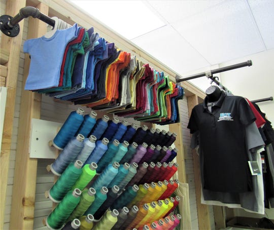 Clothing, hats, baby blankets and most anything else can be embroidered with custom colors and designs.