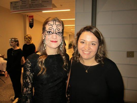 Elise Domingue and Kaci Credeur