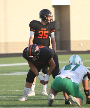 Quarterback Will Jontz (25) has been the focal point of Brighton's attack.