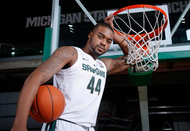 Michigan State's Nick Ward is shown during the team's media day Thursday in East Lansing.