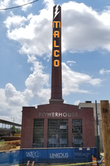 Smokestack lightning: A digital illustration shows plans for the historic smokestack that will be part of the Malco Powerhouse Cinema near Central Station.