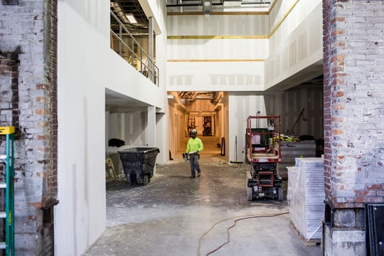 October 25 2018 - Work continues at Malco Theatres still under construction Powerhouse Cinema. Powerhouse Cinema could open by the end of the year, bringing a Malco cinema to Downtown Memphis for the first time more than 40 years.