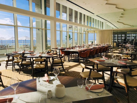 """This week the JW Marriott Marco Island Beach Resort begins welcoming resort guests to Tesoro, its new """"adult-exclusive culinary gem."""" Above: The main dining room."""