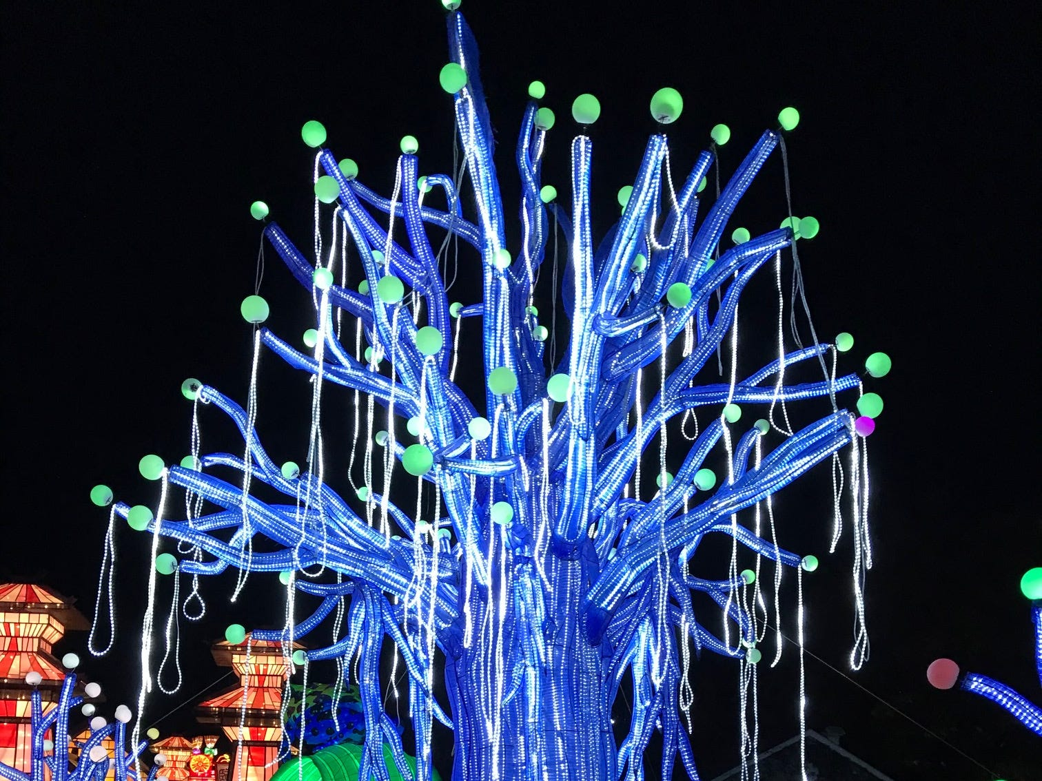 The Make a Wish Tree at the China Lights lantern festival is a beautiful display on the grounds of the Boerner Botanical Gardens in Hales Corners. The tradition of lighting lanterns began centuries ago, while lantern festivals are traced back to the beginning of the Eastern Han Dynasty (25–220).