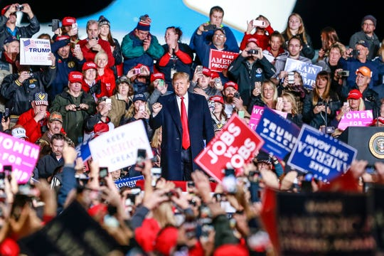 President Donald Trump appearing last fall at a rally at the Central Wisconsin Airport in Mosinee.