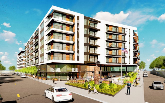 A pair of six-story apartment buildings, totaling up to 230 units, are being proposed for Milwaukee's Bay View neighborhood.