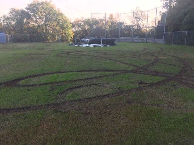 On Tuesday, Oct. 23, 2018, police say the Rock Springs Middle School baseball field was destroyed by vandals.