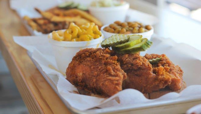 Big Shake's Hot Chicken and Fish is on Highway 96.