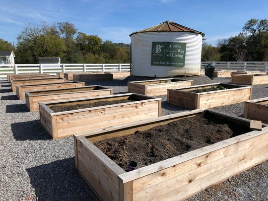 The community garden at Berry Farms is designed to help residents grow their own produce and eventually spur some farm-to-table community dinners.