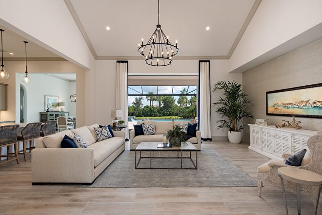 Clive Daniel Home has completed the interior of Ashton Woods' Pontevedra III in Marsh Cove at Fiddler's Creek.