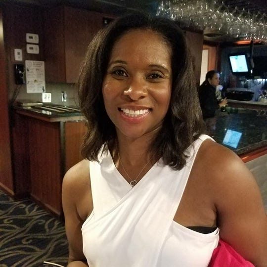 Angela Bledsoe at her high school reunion in 2017 in Suitland, Maryland.
