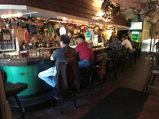 The bar at Tavern Off the Green in Morristown