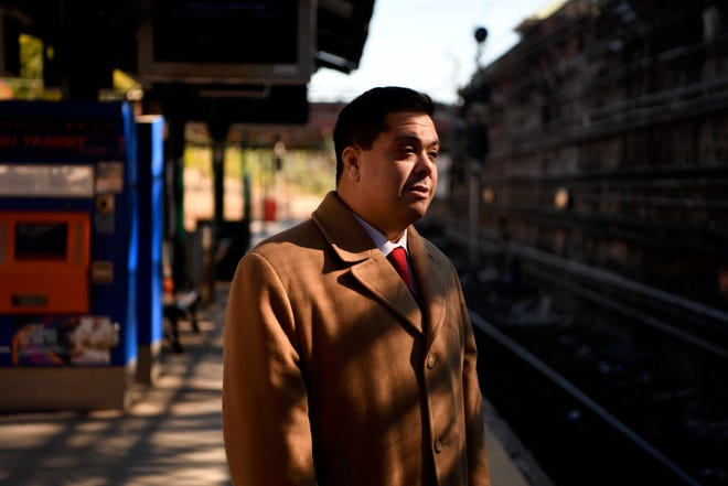 Todd Barretta, the former NJ Transit compliance chief, blew the whistle on the agency last year and was fired. Barretta is photographed at the Summit train station on Thursday, Oct. 25, 2018.