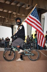Deming 575 BMX rider led the parade during the state qualifier in Albuquerque.