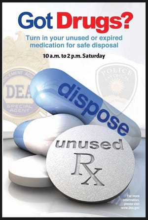 Prescription drug take back day is Saturday