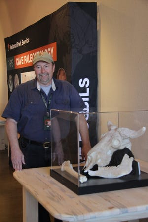 Vince Santucci, paleontologist with the National Park Service in Carlsbad, N.M. Oct. 25 ahead of a public exhibit at the National Cave and Karst Institute.