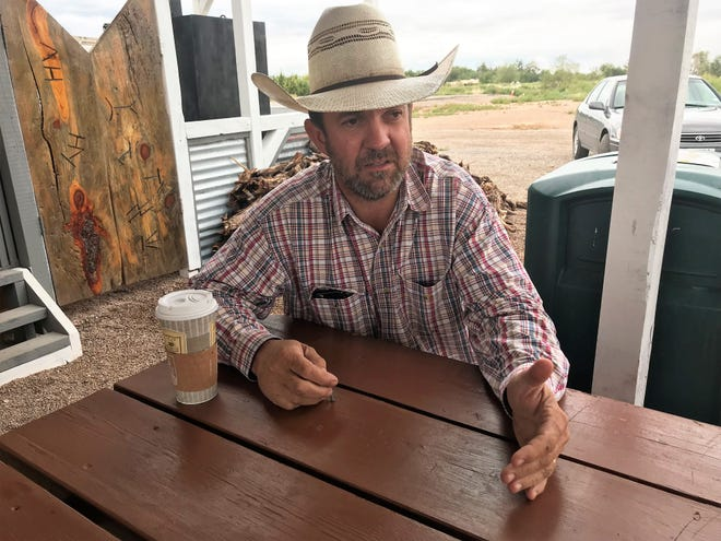 Couy Griffin, running against Democrat Christopher Jones as the Republican candidate for the District 2 Otero County Commissioner seat, believes that his experience as pastor of the New Heart Church in Alamogordo will help him administer the needs of the county.