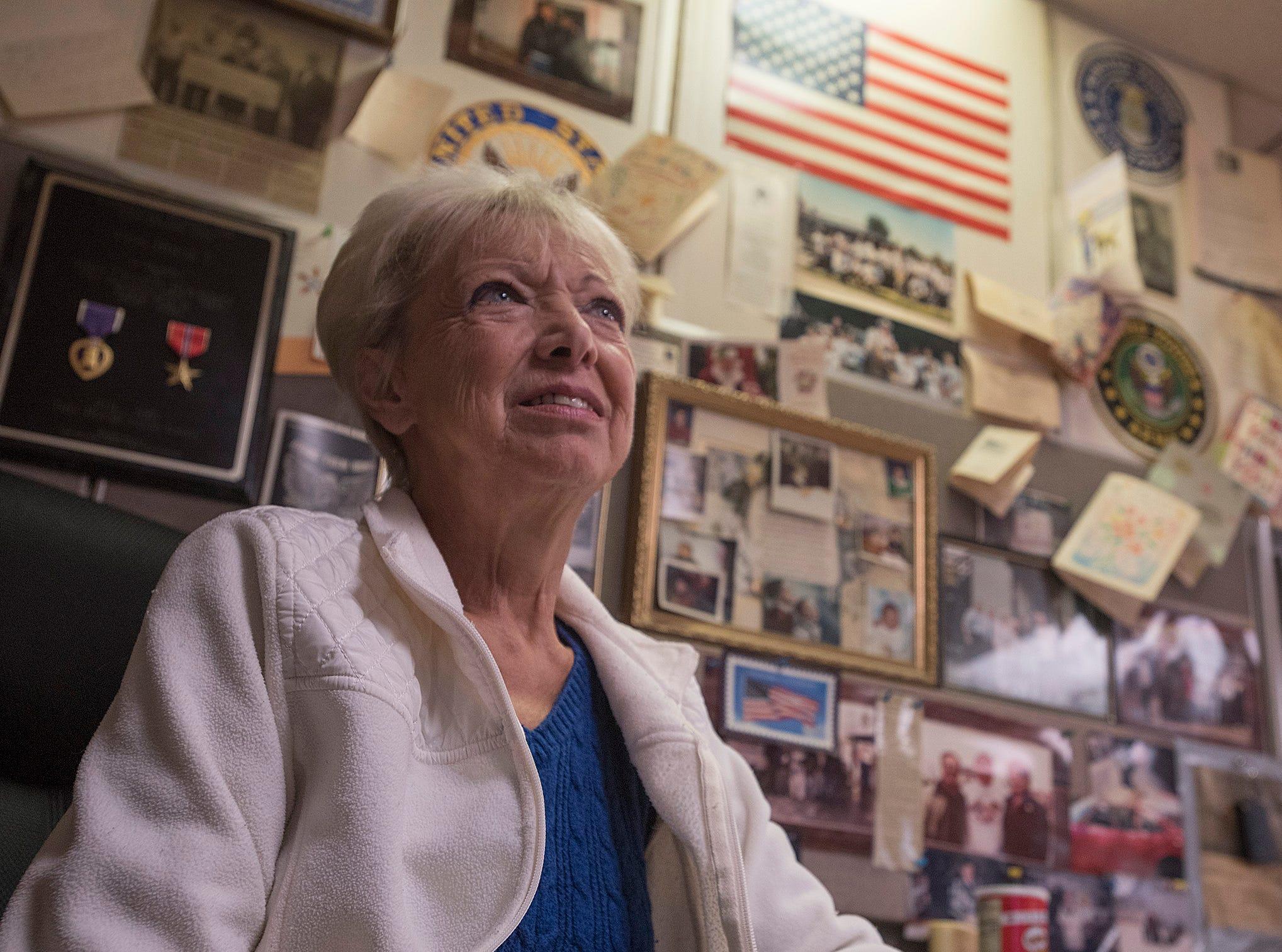 Judy Berna, wife of Veterans Haven founder Vince Berna, serves as office manager.