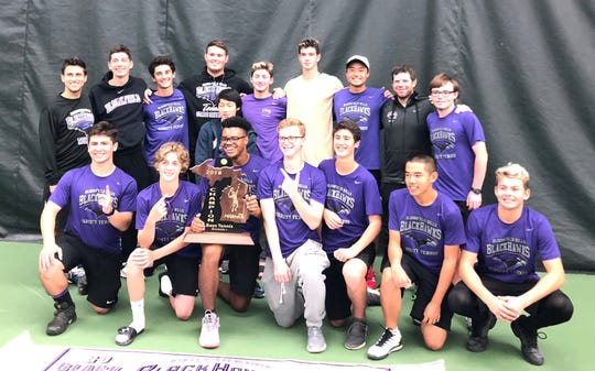 The Bloomfield Hills boys tennis team rolled to its second straight state crown and third in four years by winning five of the eight flights at the recent state tournament held in Midland.