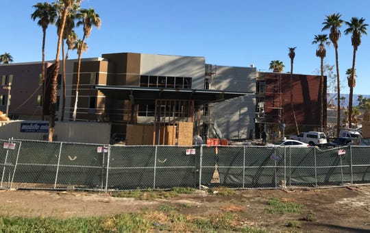 Construction continues at the SpringHill Suites by Marriott, three-story, 107-suite hotel, which is taking the place of a Fairfield Inn that burned in 2014. The new hotel, at 72-322 Highway 111, Palm Desert, is expected to open in January 2019.