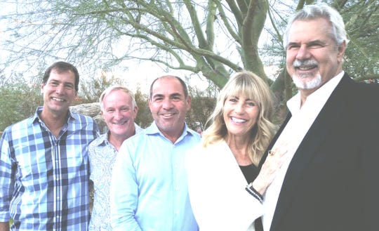 left to right: Co-host and supporter Scott Histed, co-host and C.E.O. of AAP Mark Anton, board president of AAP Tony Marchese, supporters Vicky Sullivan and Dennis Scott.