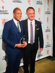Equality Visibility Award Honoree Don Lemon and EQCA Executive Director Rick Zbar