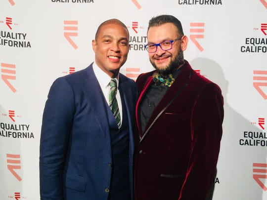 Equality Visibility Award Honoree Don Lemon and Attendee Luis Moreno