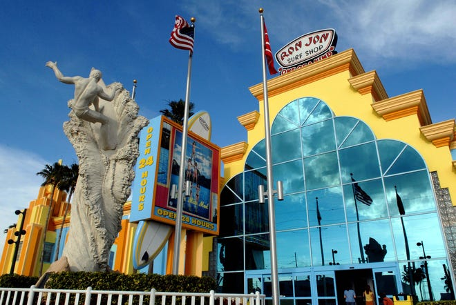 A Ron Jon Surf Shop is pictured at Cocoa Beach. A new Ron Jon Surf Shop is heading to Pensacola Beach, prompting some officials to worry about the future of local surf shops.