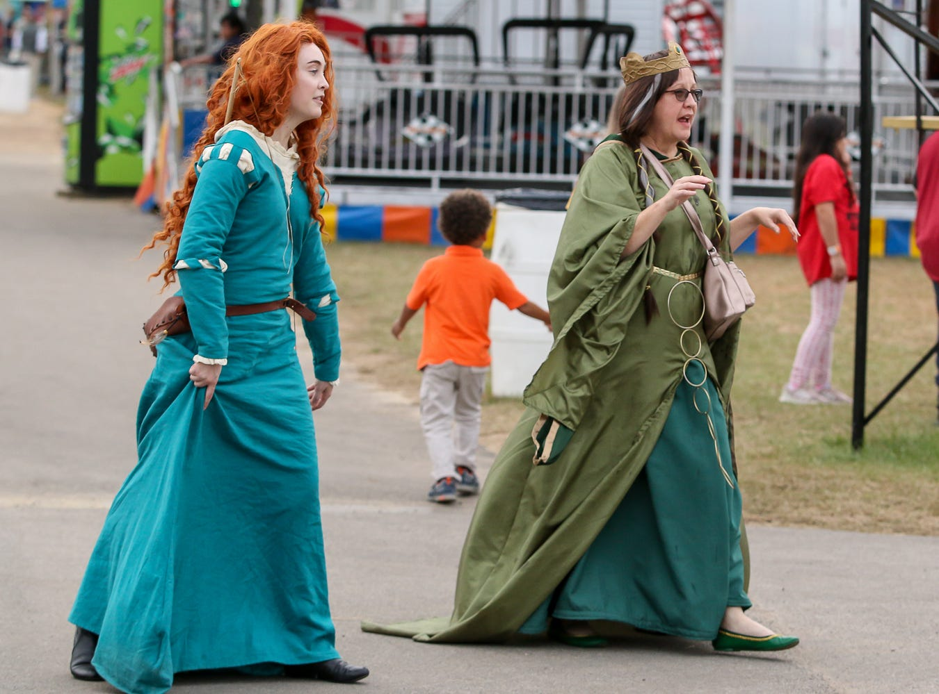 People dress up on Pensacon Day during the 84th annual Pensacola Interstate Fair on Monday, October 22, 2018.