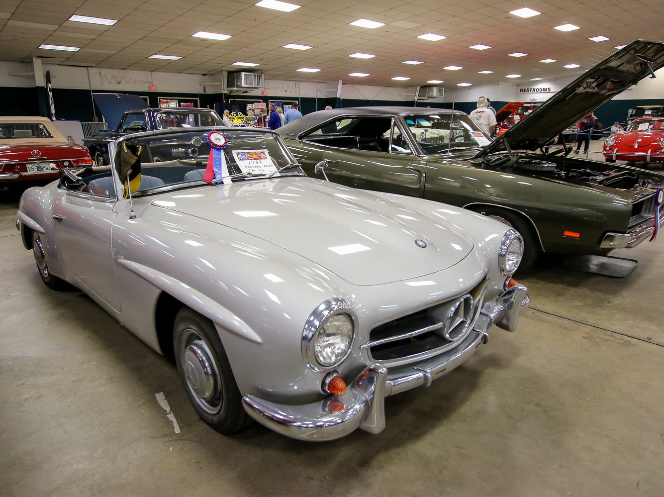 Some of the cars on display during the 84th annual Pensacola Interstate Fair on Monday, October 22, 2018.