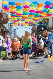 The Umbrella Sky Project was a popular event at last year's Foo Foo Festival.