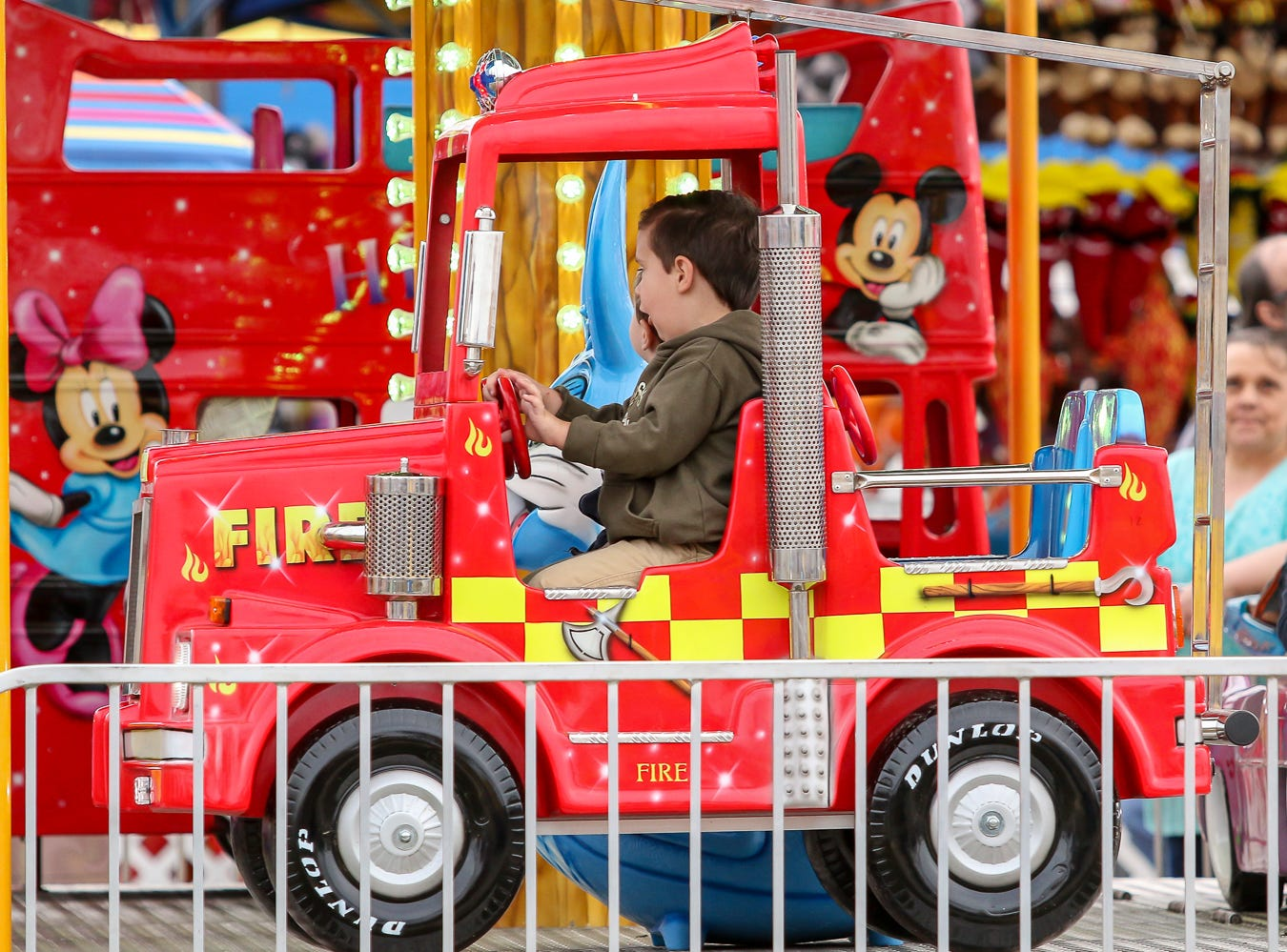 People enjoy the 84th annual Pensacola Interstate Fair on Monday, October 22, 2018.